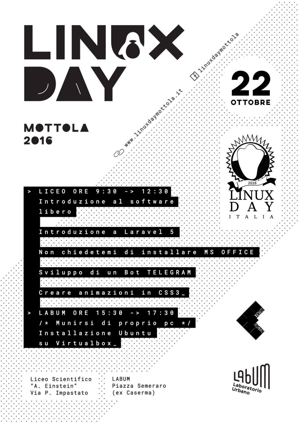 Linux Day Mottola 2016